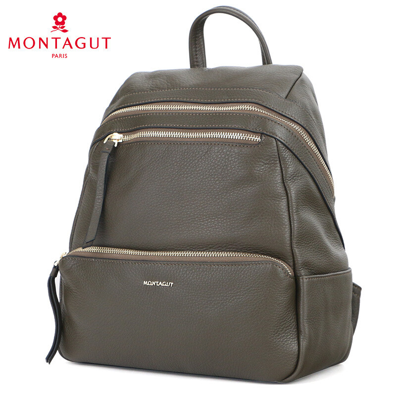 梦特娇/montagut男士双肩包新款真皮户外休闲旅行背包