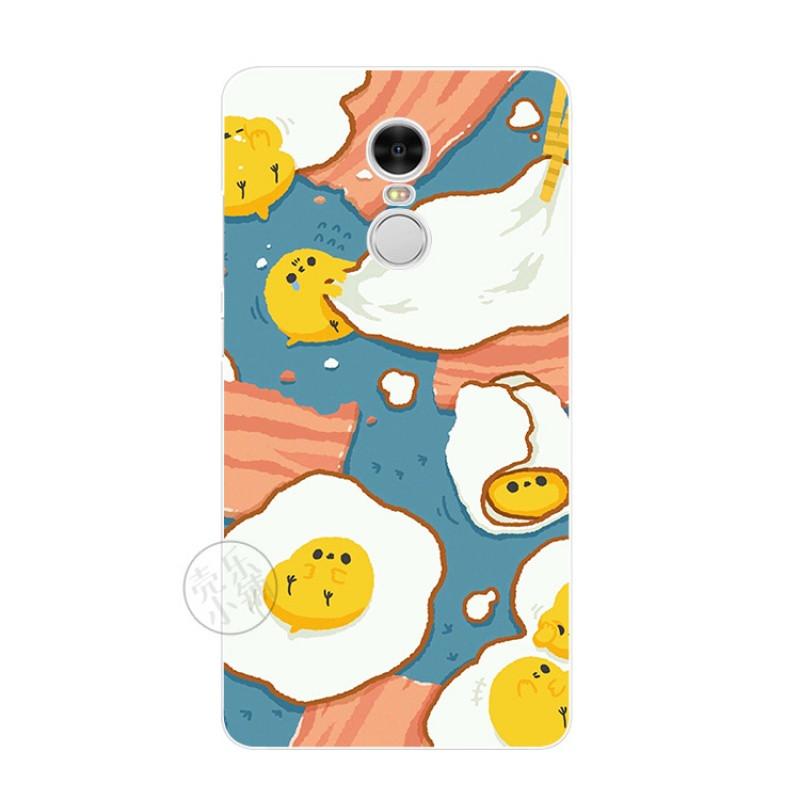 2017款小米红米note4手机软壳超薄硅胶保护套韩国小清新荷包蛋简约