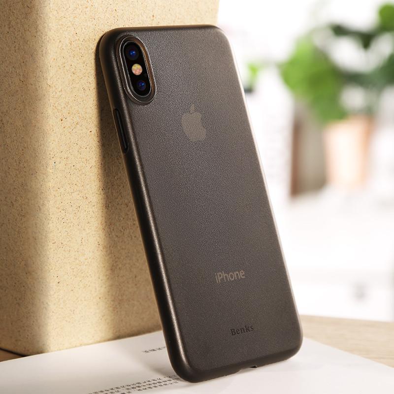 新款苹果x手机壳超薄磨砂iphonex保护套全包防摔硬壳透明