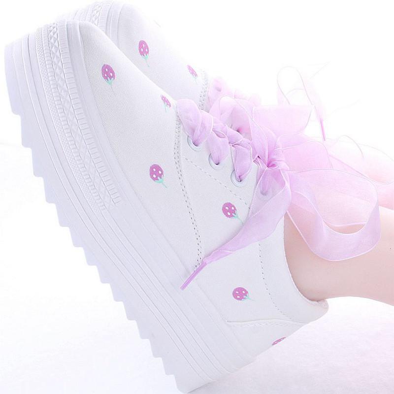 小清新文艺森女原宿日系韩版软妹鞋手绘鞋帆布鞋女鞋可爱鞋子学生
