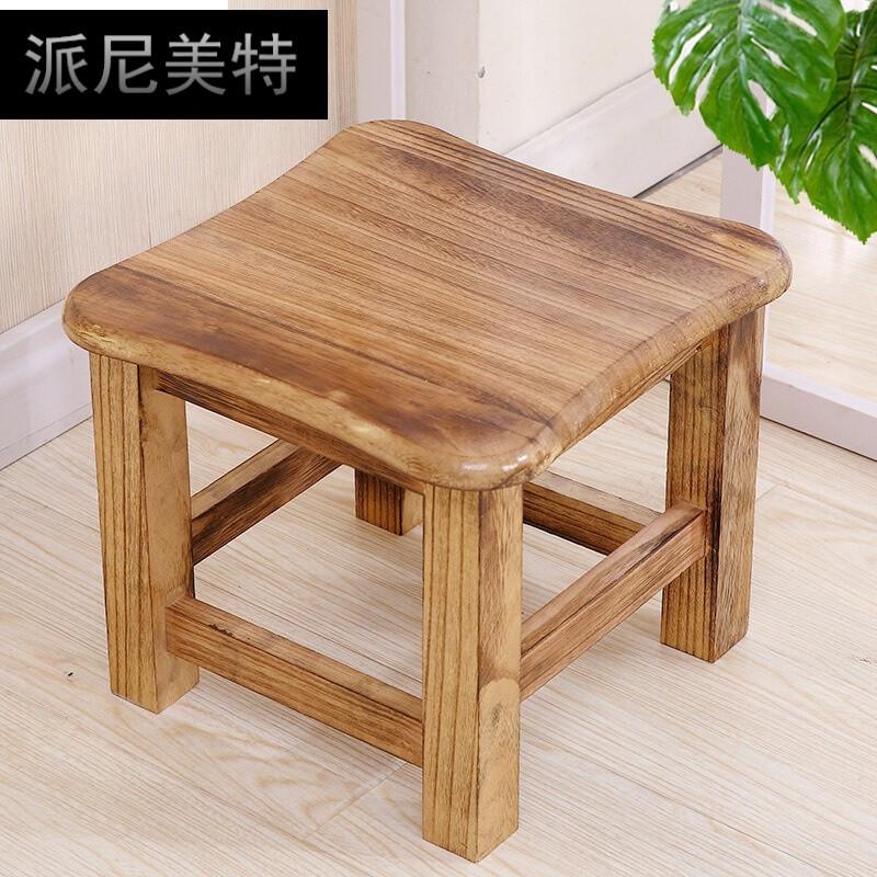 家用凳子时尚实木创意板凳小方凳矮换鞋凳客厅简约现代原木茶几凳图片