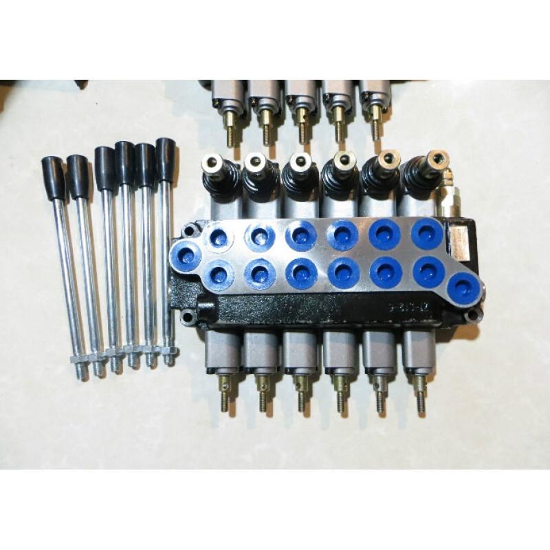 一到六联整体式液压多路换向阀油缸马达分配器液压阀手动换向阀图片