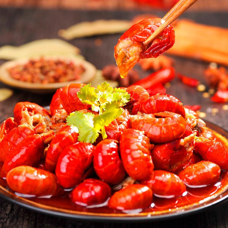 小龙虾虾尾 即食麻辣小龙虾虾球熟食香辣龙虾尾100g装