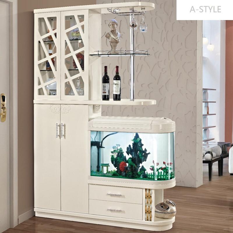 a-style客厅鱼缸间厅柜玄关柜屏风酒柜隔断门厅柜装饰