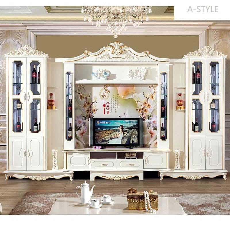 a-style包安装欧式电视柜组合地柜酒柜组合整体背景墙