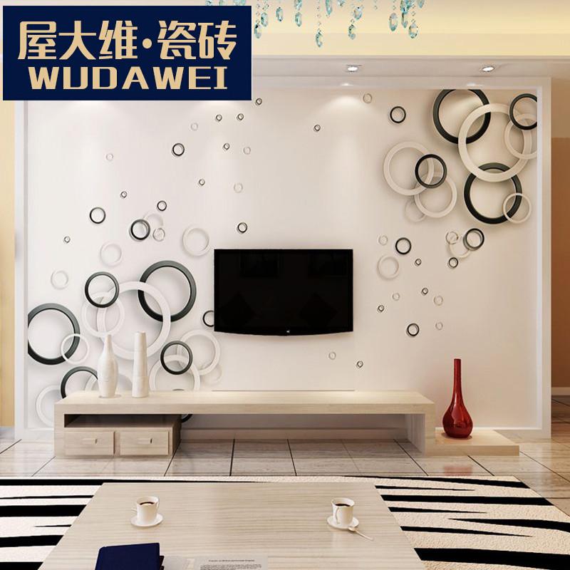 瓷砖电视背景墙3d现代简约客厅大理石微晶石磁砖装饰边框墙砖 律动