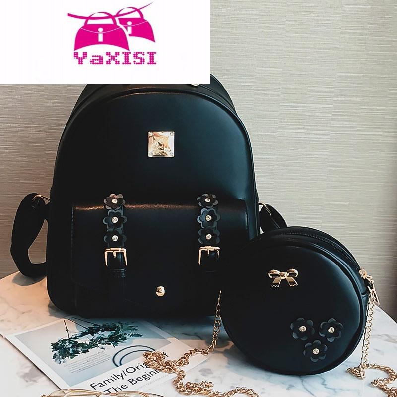 yasixi时尚品牌可爱花朵双肩包女童背包儿童小孩时尚少女大童旅行旅游