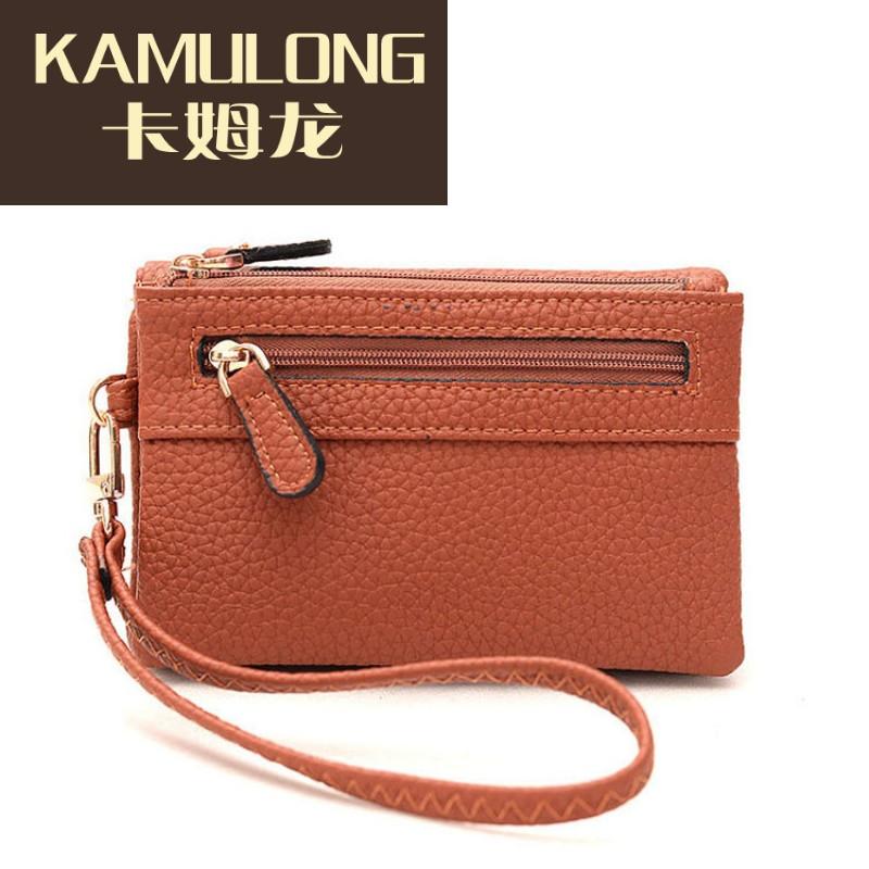 kamulong钱包2017新款女士长款韩版时尚手提零钱包潮流百搭手机包女