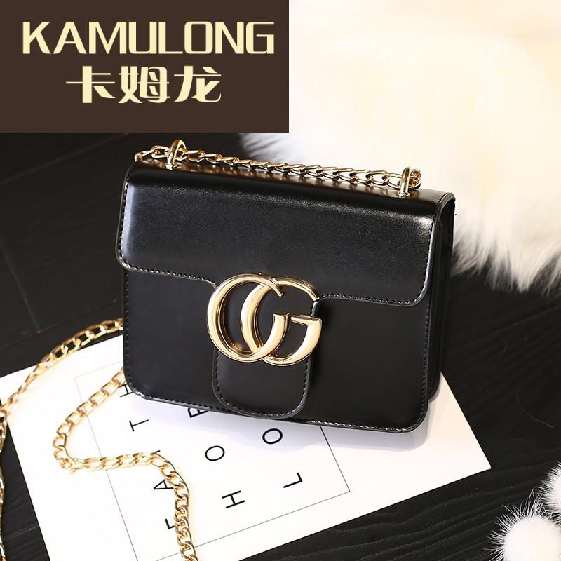 kamulong2017新款包包小薏仁时尚链条复古渐变cg品质女包小方包单肩斜日本香风化妆水图片