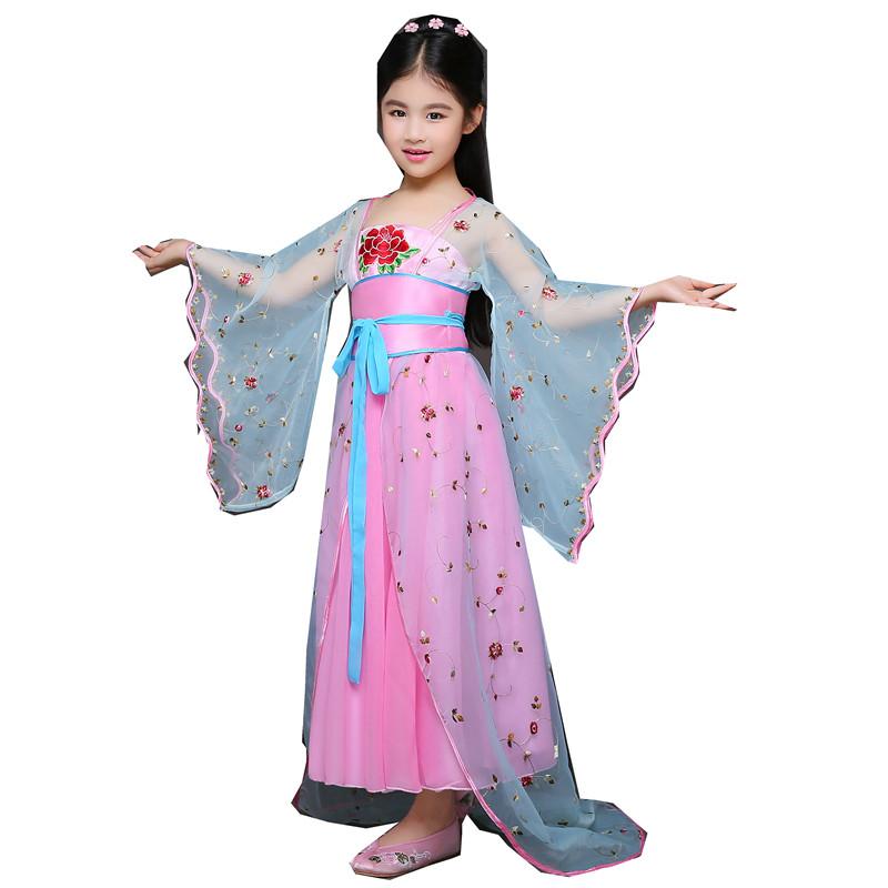 新款儿童古装仙女小姐装唐朝公主古代贵妃舞蹈cos演出