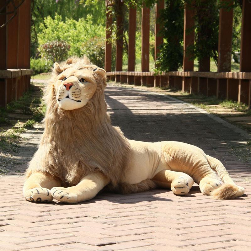 动物爬款狮子公仔大号毛绒玩具非洲狮子布娃娃生日礼物女
