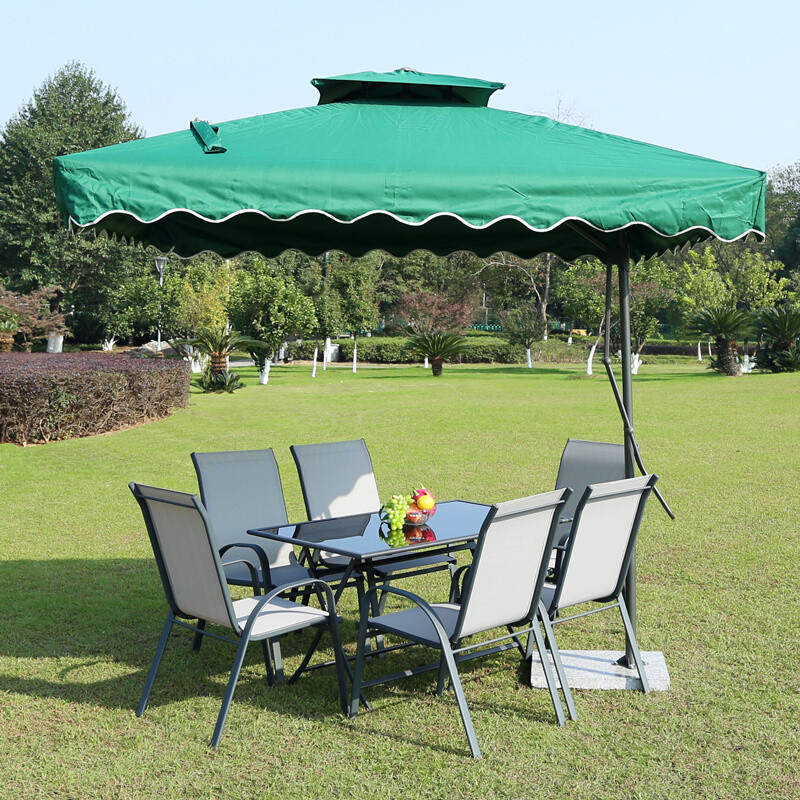 doxa户外桌椅庭院阳台桌椅组合露天休闲桌椅伞套装铁艺户外咖啡桌椅