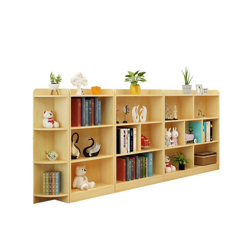 doxa儿童书架简易小书架组合置物架实木宝宝卡通绘本幼儿园落地书柜xx图片