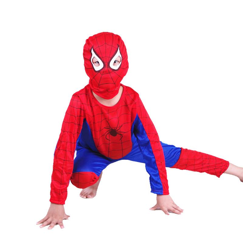 特价万圣节儿童服装 男女孩动漫cos衣服装扮服饰披风 超人蜘蛛侠套装