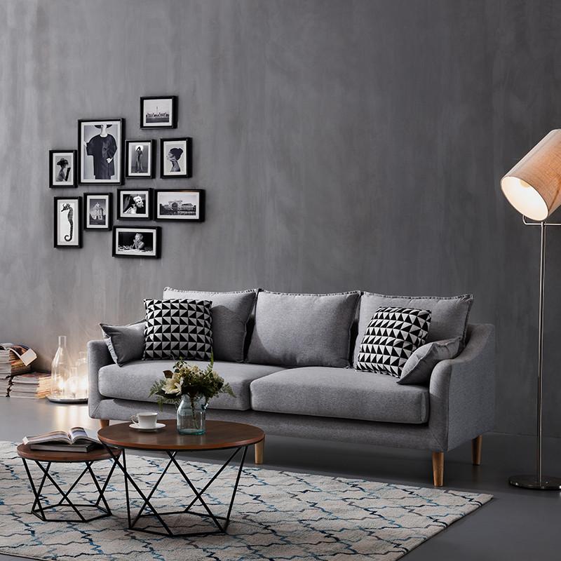工匠精神北欧风布艺沙发 意式极简羽绒沙发软沙发乳胶图片