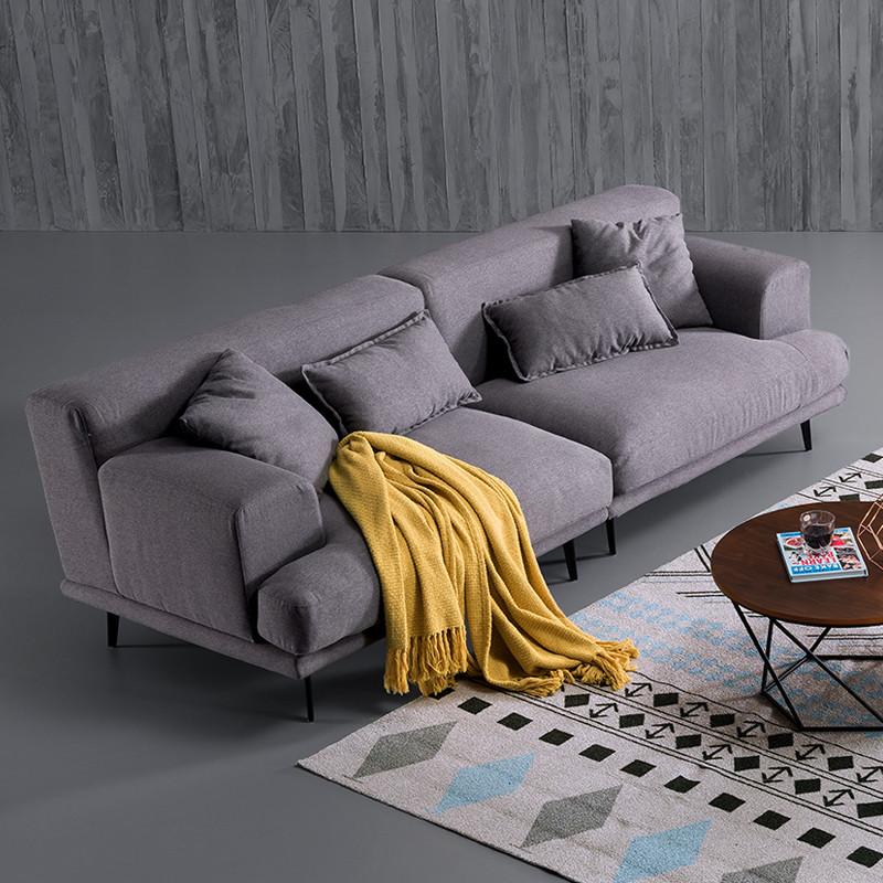 工匠精神 意式极简羽绒布艺沙发 北欧风格乳胶布艺沙发客厅组合家具