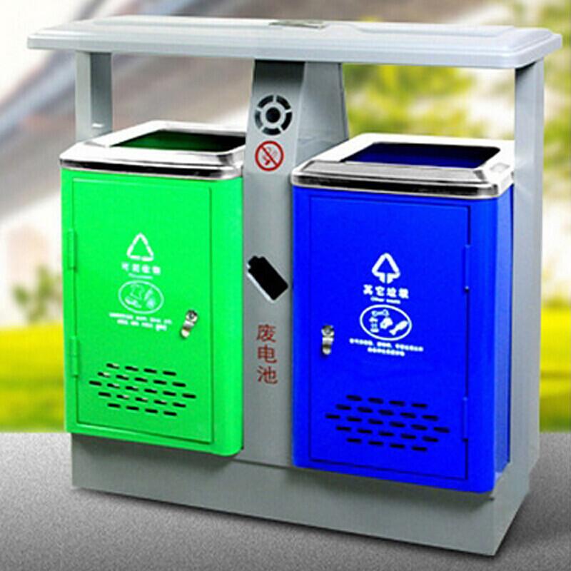 不锈钢户外垃圾桶分类垃圾箱 单个图片