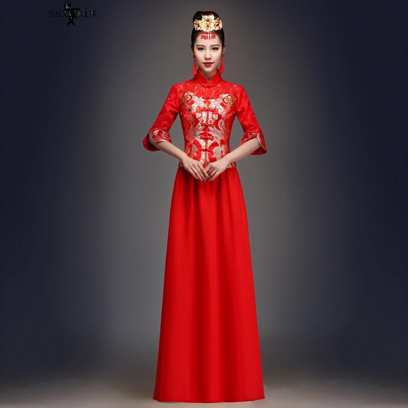 百丽香奈复古结婚旗袍女中式嫁衣新娘礼服秀和