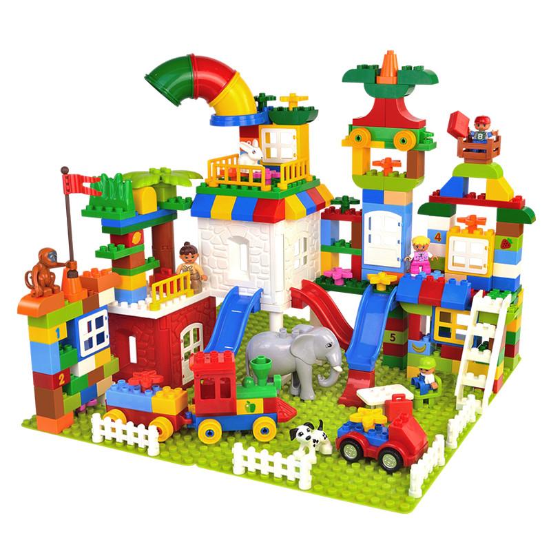 群隆 兼容乐高儿童diy大颗粒城市拼插2-6周岁拼搭积木