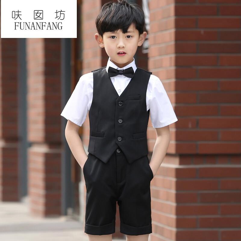 呋囡坊宝宝儿童男西装礼服套装礼服花童爵士男图纸3乐5a马甲图片