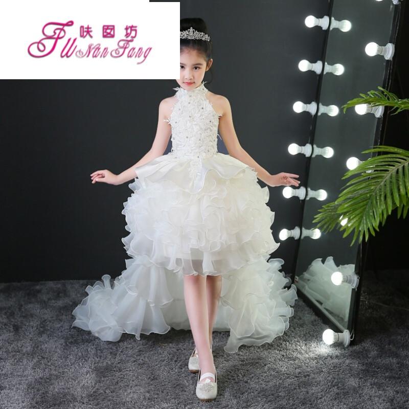 六一儿童礼服模特走秀演出服装女童表演服公主裙蓬蓬裙长裙拖尾夏