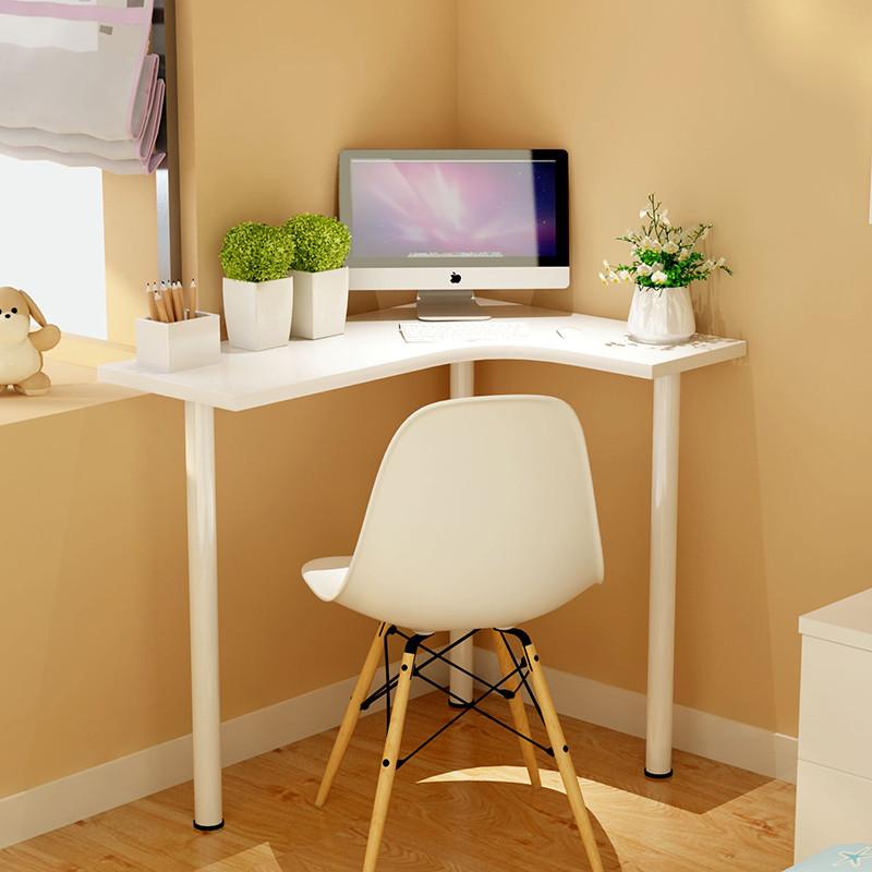 迷你家用墙角小户型转角电脑台式桌电视现代简约拐角弧形写字书桌图片