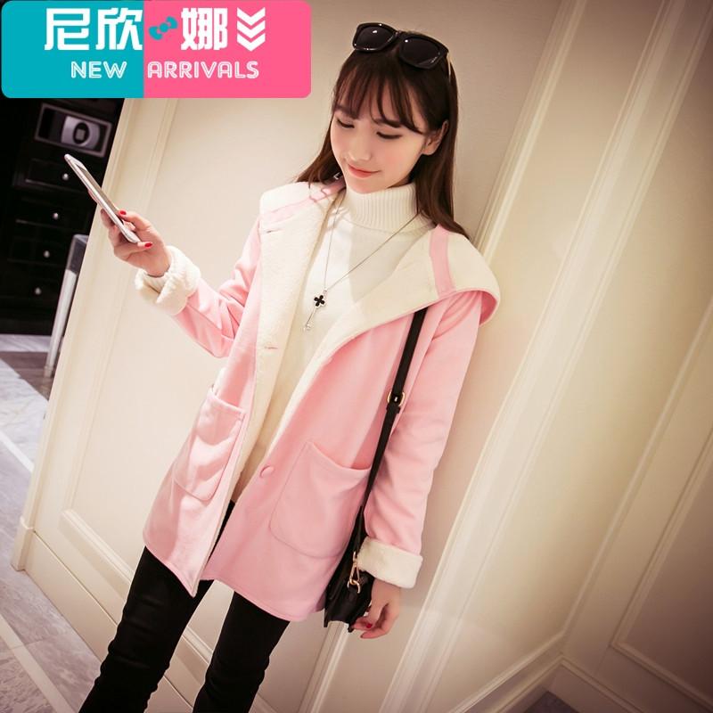 新品外套16毛呢风高中少女学生女装高中学院惠州冬装最好的图片