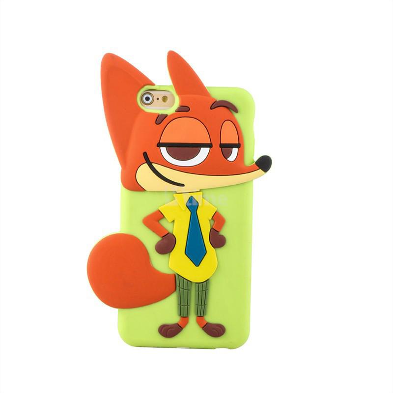疯狂动物城周边 狐狸尼克iphone6 plus硅胶手机壳
