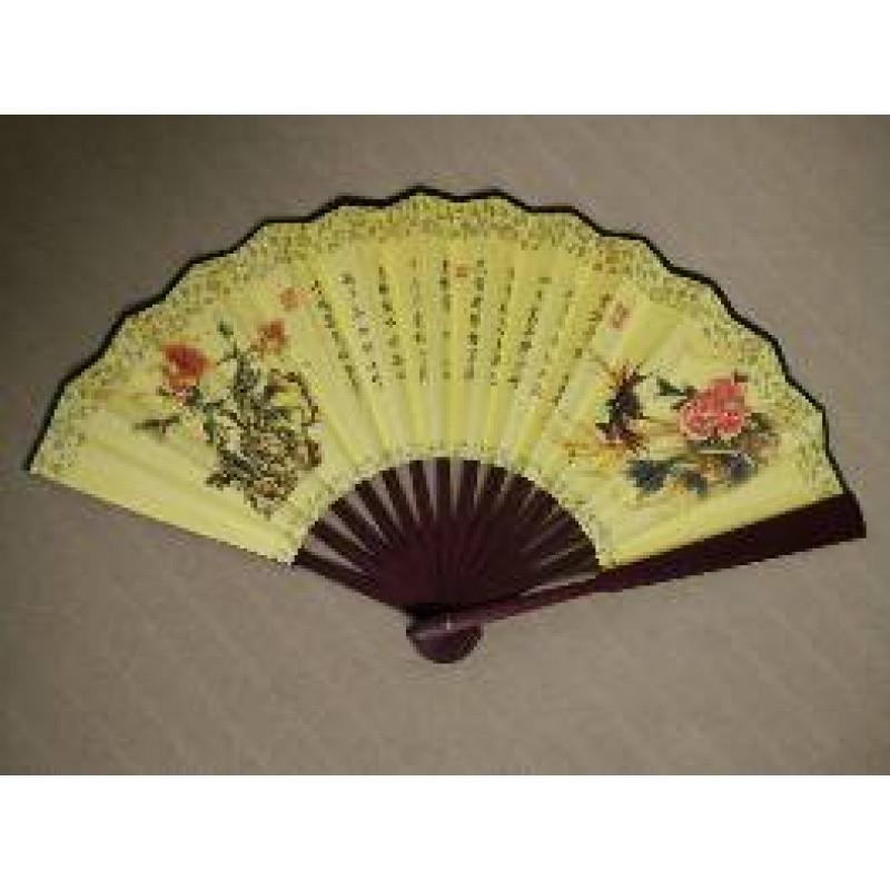 古装 扇子中国风民国特色 风景画 书法艺术 汉服 男士