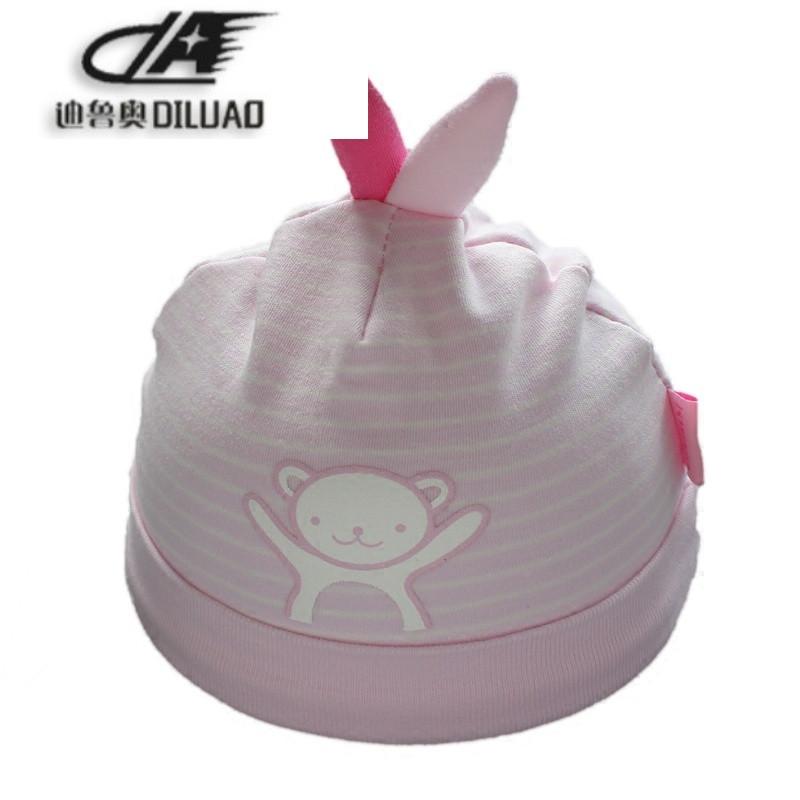 新生儿0-3个月帽子纯棉胎帽耳朵婴儿帽春秋男女宝宝套