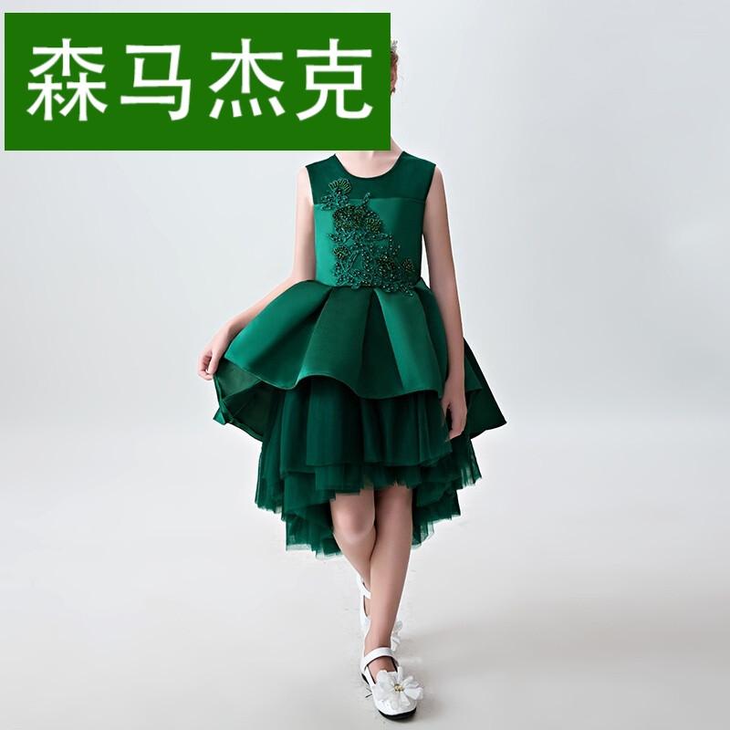 森马杰克儿童公主礼服裙2017新款大中童钢琴小主持人表演生日蓬蓬裙图片