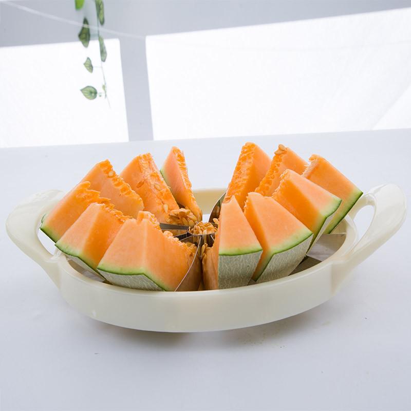 舒厅 创意水果分割器不锈钢大号切西瓜瓜果切片切块神器制作果盘工具