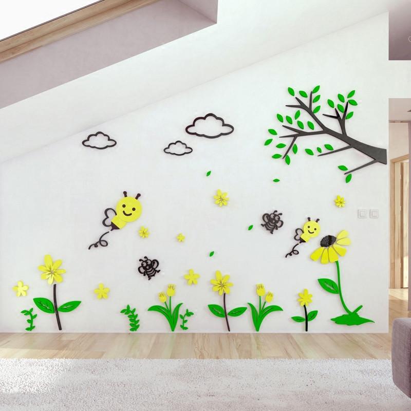 舒厅创意家居 3d立体卡通墙贴儿童客厅卧室餐厅教室墙壁贴画宝宝婴儿