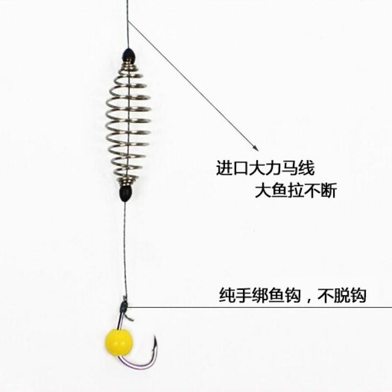 手竿鲢鱼鳙鱼钩专用钓鲢鳙钓组大力马子线双钩手杆大物小爆炸钩