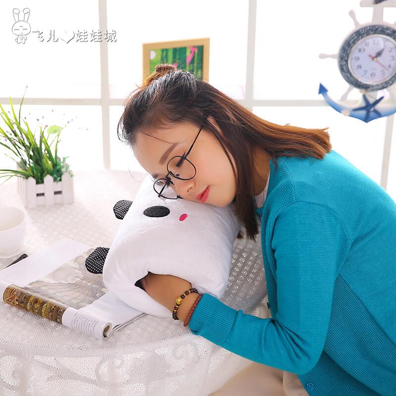 办公室睡觉神器学生趴桌子午睡枕午休枕靠垫抱枕可爱趴趴枕靠枕粉猪30