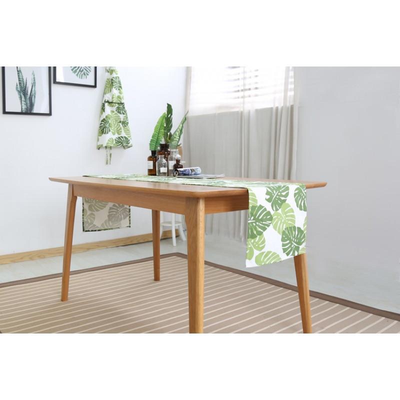 现代简约北欧风田园小清新文艺绿叶客厅餐桌茶几装饰布艺桌旗