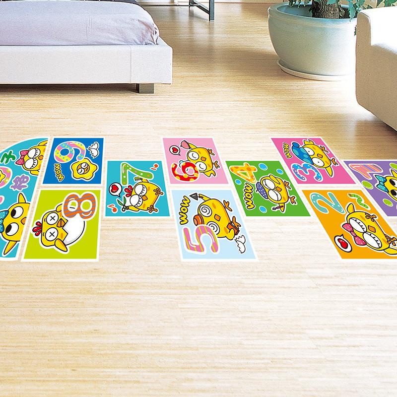 儿童幼儿园跳格子地贴教室班级布置装饰品地板贴纸地贴方格墙贴画
