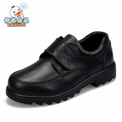 伊布朵朵童鞋男童黑色皮鞋新款中大童黑皮鞋學生演出鞋兒童鞋表演皮鞋
