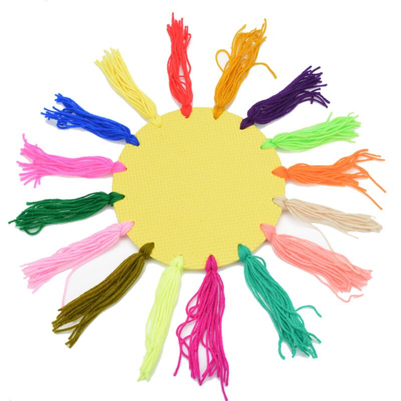 户外软飞盘儿童毛线纸板飞盘幼儿园手工泡沫飞盘户外游戏飞碟玩具