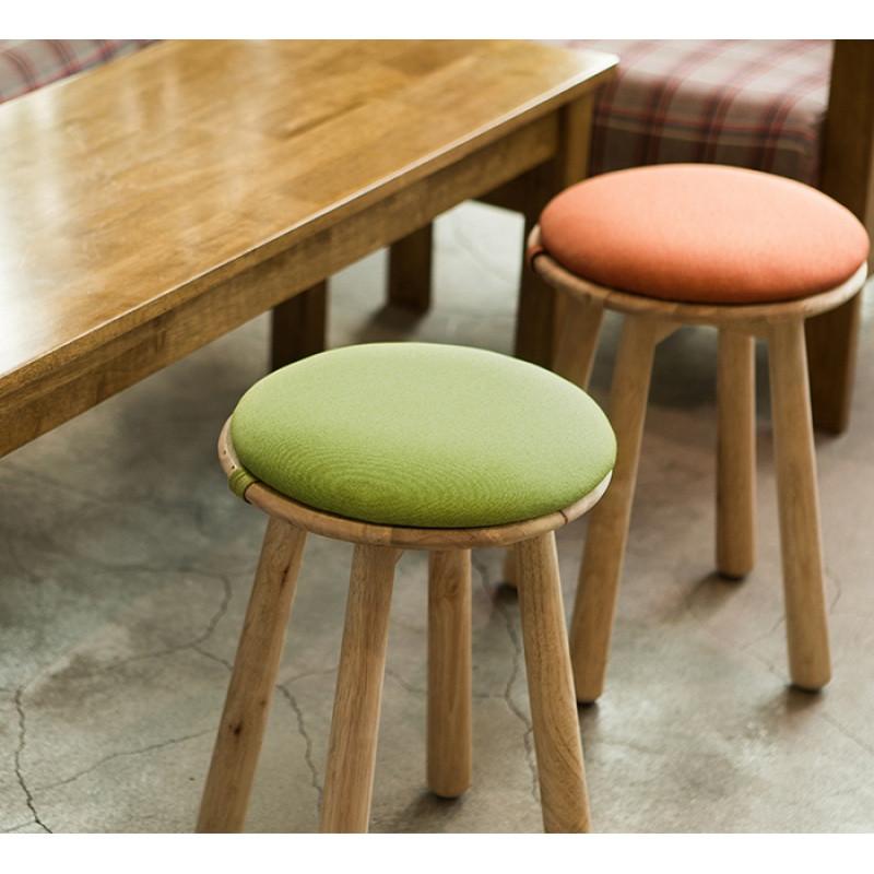 小户型客厅木凳全实木圆凳现代简约餐凳多功能家用创意蘑菇小凳子