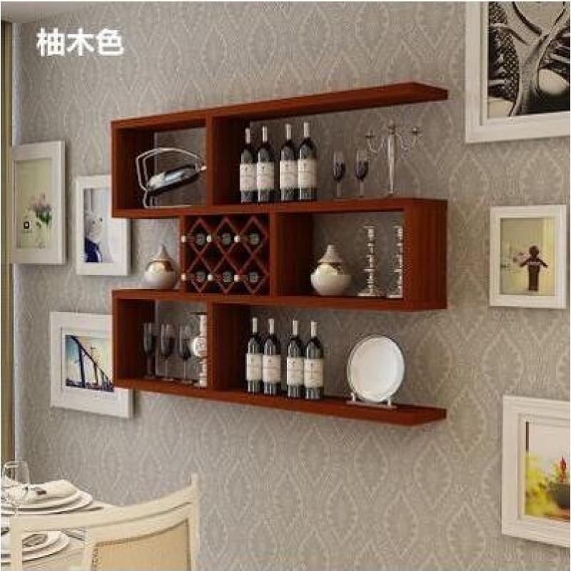 简约欧式壁挂酒架酒柜悬挂格子架红酒架创意墙上置物架酒格储物架