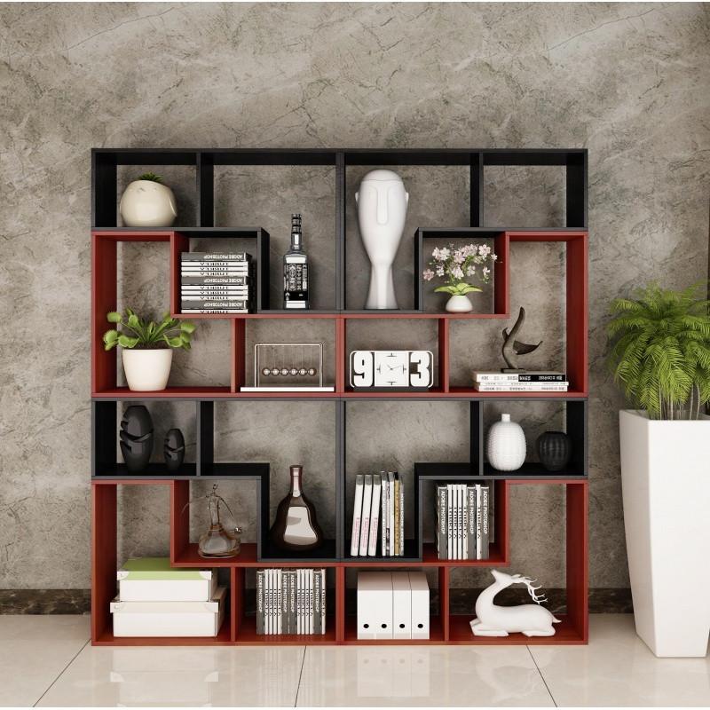 书柜书架落地简约现代简易客厅隔断置物架卧室创意格子架自由组合
