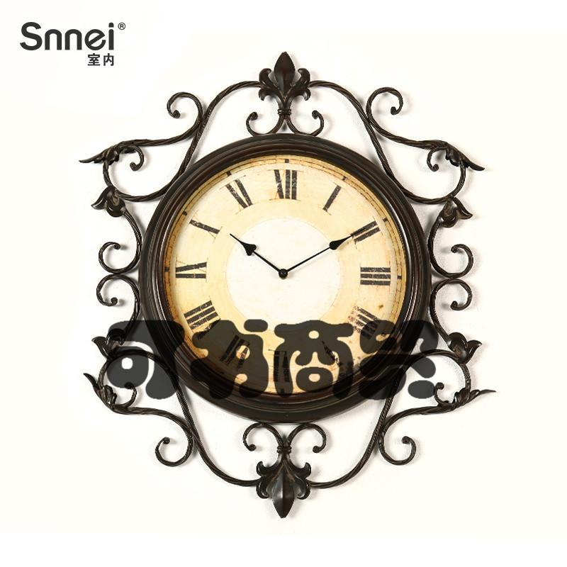可书欧式复古圆形壁挂时钟 创意时钟客厅艺术挂钟(若无选项,请咨询店图片