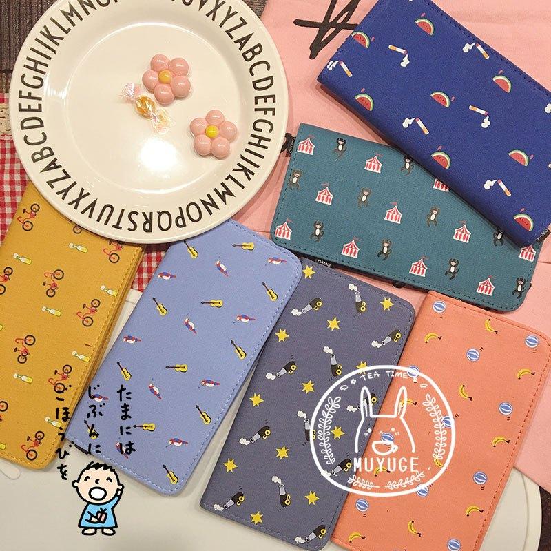 新款韩国小清新卡通可爱创意小动物软妹帆布钱包刺绣长款皮夹男女钱包