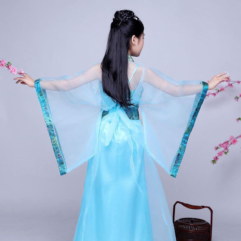 新款儿童古装服装汉服贵妃仙女装女童仙女裙表演演出服儿童节演出服装