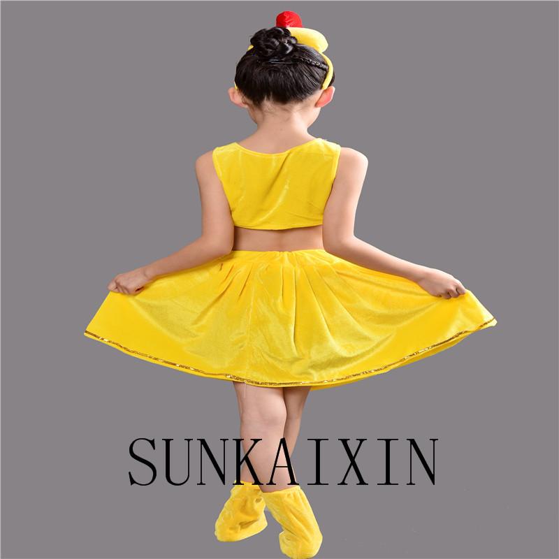 新款儿童小鸡演出服装新款动物卡通造型幼儿园小鸡六一舞蹈表演衣服