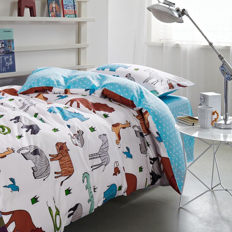 全棉单人宿舍床单三件套大学生被套纯棉寝室上下铺0.9米床上用品