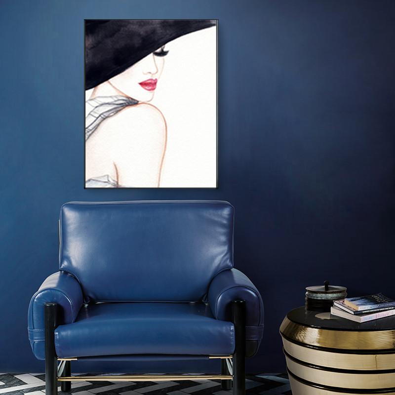 美女客厅装饰画现代样板间个性挂画抽象人物艺术画咖啡厅创意壁画