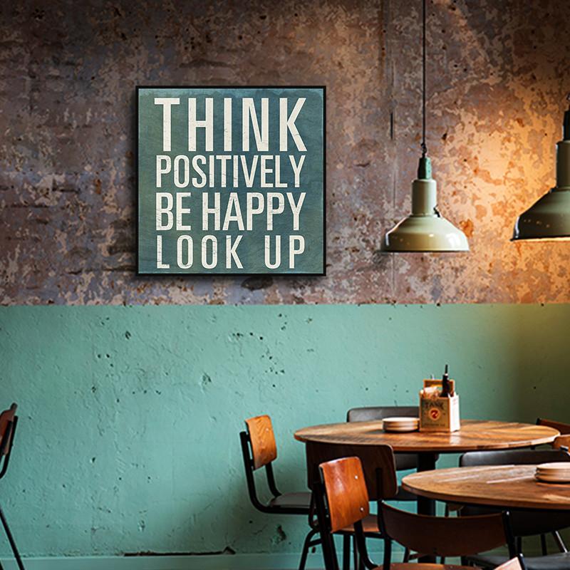西餐厅咖啡厅装饰画英文字母有框挂画loft工业风复古怀旧酒吧壁画