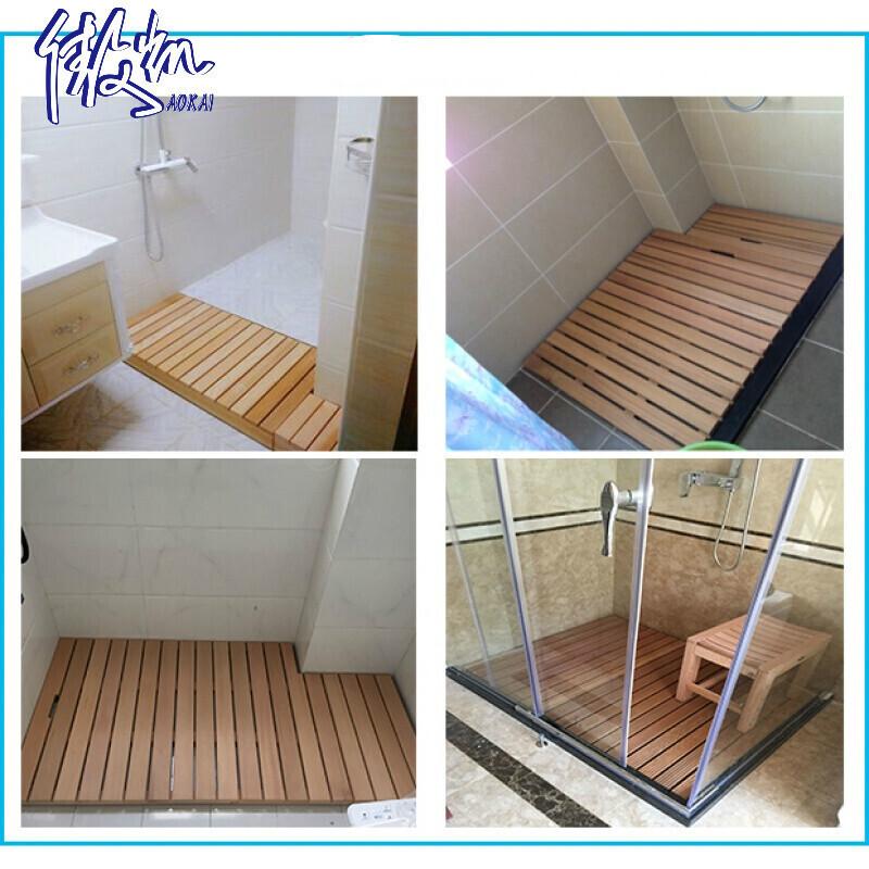 淋浴房浴室防滑垫卫生间淋浴木地板防腐木垫踏板卫浴地垫脚垫定制